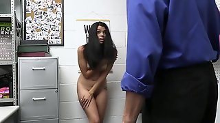 Security Officer Tommy Gunn Brings Harley Haze To The Backroom And Accuses Her Of Stealing One Of Their Dogs