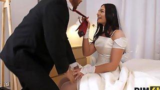 Bride, Milf, Wedding, Ass Licking, Brunette