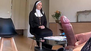 I Take My Cock Out In A Religious House ... I Hope She Wont Call The Police !!