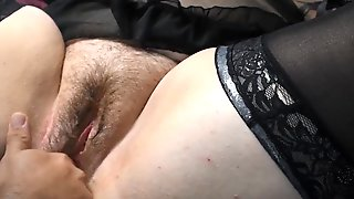 Curvy Wife Gets Her Unshaved Twat Licked Cums All Over Herself (closeup Large Squirt)