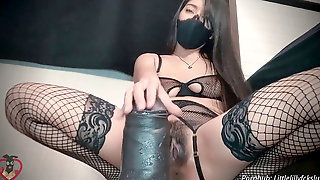 Pussy Stretching On BBC Mateo Fuck Stick By MrHankeysToys With Messy Talk And SeninaUnderwear Lingerie