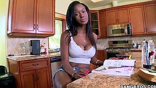 Interracial Fucking With Natural Boobs Ebony Cutie Jezabel Vessir