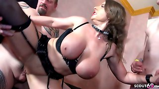 Big Hanging Tits Milf Susi In German Gangbang Swinger Sex