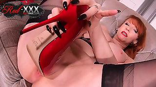 Naughty Bosomy Wife Red XXX Is Really Shagging Steamy