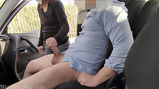 Knob Show - A Doll Caught Me Jerking Off In The Car And Help Me Cum 4K - MissCreamy