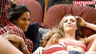 LETSDOEIT - (Luna Star, Karla Kush, Sam Shock) - FFM Threesome With Big Booty Troublemakers