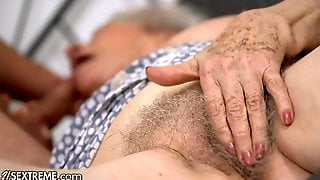 Twenty One SEXTREME   Super Old Granny Wishes Her Unshaved Snatch To Feel New Once More