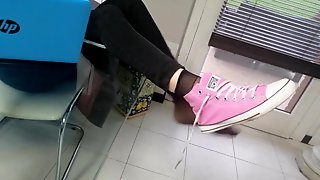 Teacher Likes To Get Foot Worship And Her Feet Licked By Student