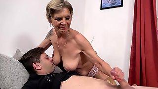 Lustful Stepmother Arranged A Handjob For Her Loved Stepson