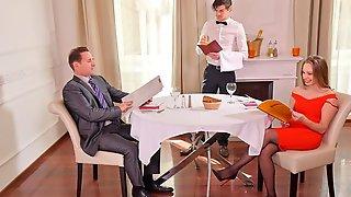 Husband And Waiter DP Horny Wife Kinuski In 5 Star Restaurant GP1987