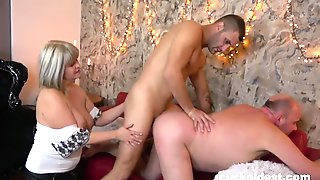 Old Couple Tries Cuckolding