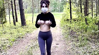 My 1st Exhibitionism In The Woods