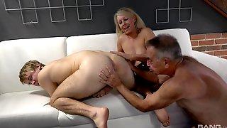 Granny Enjoys Unique Jock Porn With The Nephew