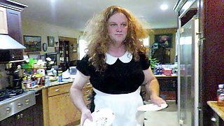 Sissy Gimp Does Dishes Per Mistress Victorias Order