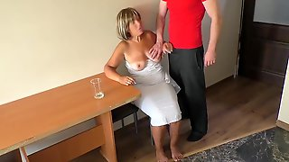 Mommy Was Sad Until That Babe Touched Her Sons Schlong And Had Anal Sex.