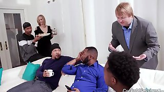 Lilly James Desires Anal Group Sex And Double Penetration With Large Ebony Knobs - Cuckold Sessions