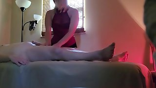 Undercover Massage Parlor Sextape Films Blond American Having Sex