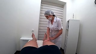 Foot Massage Ended With A Sexy Oral Pleasure From A Gorgeous Nurse