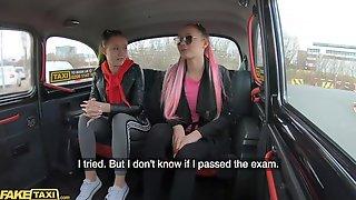 Fake Taxi StepSisters Lady Zee & Sandra Zee Screw Euro Cabbie