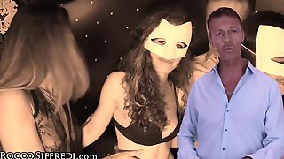 RoccoSiffredi Sexy Masked Fellatio Contest At The Pool