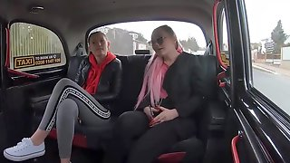 Insatiable Sluts Had Sex With A Taxi Driver, In The Back Of His Car And Enjoyed It
