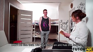 TUTOR4K. Instead Of Going At Party Fella Has An Affair
