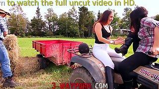 3Way Porn - 2 HottiesFuck Outdoor On The Farm