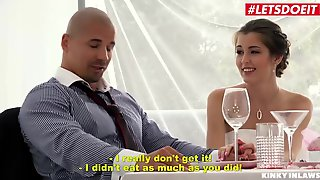 KinkyInlaws - Cindy Shine Lascivious Czech Playgirl Screws Her Fresh Stepson At Her Wedding - LETSDOEIT