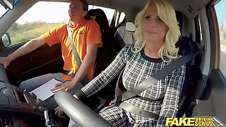 Fake Driving School Golden-Haired Mother Id Like To Fuck Tiffany Russo Screws For Licence