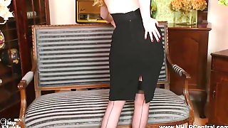 Curvaceous Blond, Satine Spark Loves To Masturbate In Hawt Nylons And Shoes With High Heels
