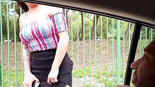 Street Slut Cereza Rodriguez & AlexGarciaPorn Spanish Porn