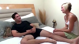 Shy Brother With Monster Penis Bangs His Excited Step Sister