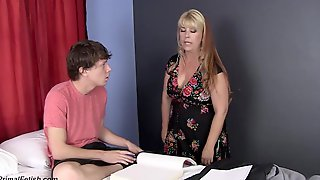 Joclyn Stone Is A Smashing Blonde Mature With Shaved Pussy, Who Is Heavily Pregnant And Horny