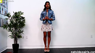 Shy Girl Orgasms Like Crazy Throughout Her Calendar Audition