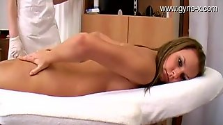 Brunette Hair Angel Gyno Exam With Speculum