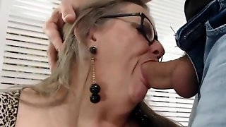 Older Wife Plays With Her Toy Male. Nut Snatching. GILF