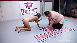Dude Vs Woman Wrestling Fight With Recent Gal Stacey Daniels Fighting Vinnie ONeil Roughly