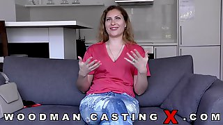 Elena West Is About To Experience Her 1st Porn Episode Casting And That Babe Is Very Horny