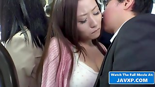 Japanese Chick With Large Tits Loves To Get Molested In The Bus, On Her Way Home