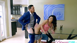 StepDad Can Not Pull Out Filling Oriental Teen Slit Right Next To Mamma! S2:E9
