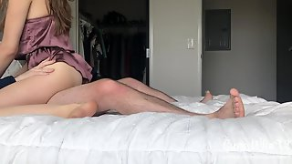 Loud Groaning PAWG Teen Rides Wang Cowgirl Until Agonorgasmos And Creampie