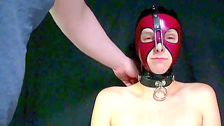 Bod Worshipping: Feet And Armpits - Hot Latex Sub Girl Licks & Kisses Feet & Underarms In A Nose Hook