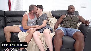 Cute Twink Wants To See The Game But His Step Uncle Has Plans For Him And His Huge Ebony Friend