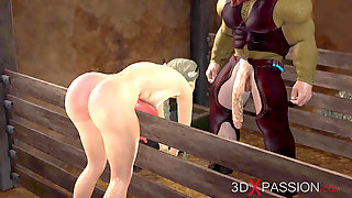 A Warm Wonderful Chick Gets Fucked Hard By Farmer In Cowshed