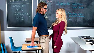 Aesthetic Hottie With Enhanced Tits Casca Akashova Fucked In The Classroom