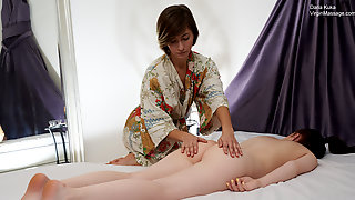 Daria Kuka First Time On A Massage Table With A Girl