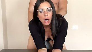 Busty Secretary Fucks Her Boss At Work
