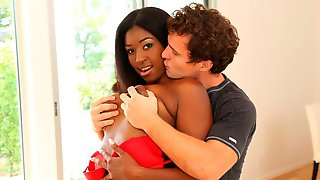 Ebony Chick With Big Bottom Camille Amore Rammed By White Boy