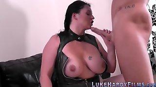 Lucky Luke Fucks Latex Clad Busty Curvy