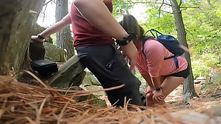 """Oriental Mother Id Like To Fuck Hiker Wishes To Suck Some Ramrod In Nature """"Risky Business"""" Nearly Got Caught"""